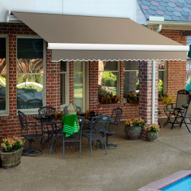 """Awntech MM10-198-TP, Retractable Awning Manual 10'W x 8'D x 10""""H Taupe"""