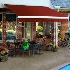 "Awntech MM18-74-TER, Retractable Awning Manual 18'W x 10'D x 10""H Terra Cotta"