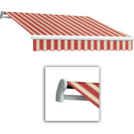 "Awntech MTL18-443-BWM, Retractable Awning Left Motor 18'W x 10'D x 10""H Burgundy/White"