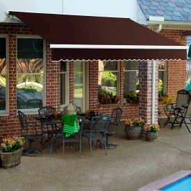 """Awntech SCR18-5-BRN, Retractable Awning Right Motor 18'W x 10'D x 10""""H Brown"""