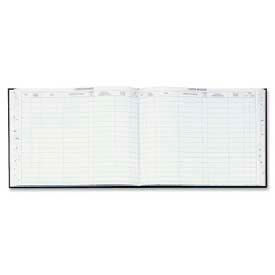 "Wilson Jones® Visitors Register Book, 9-1/2"" x 12-1/2"", Black Hardcover, 208 Pages/Book"