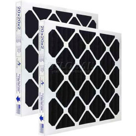 "Airex® 20"" x 30"" x 2"" 100% All Carbon Pleated Filter, MERV 8, High Quality  - Pkg Qty 12"