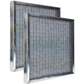 "Airex® 16"" x 25"" x 2"" Heavy Duty Aluminum Metal Filter, High Quality - Pkg Qty 6"