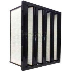 """Airex® 20""""x24""""x12"""" Superflow V-Bank Cartridge Filter, 95% DOP Efficiency, High Quality"""