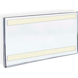 """Azar Displays 122012 Horizontal Wall Mount Sign Holder W/ Adhesive Tape, 14"""" x 8.5"""" , 10-Pack"""