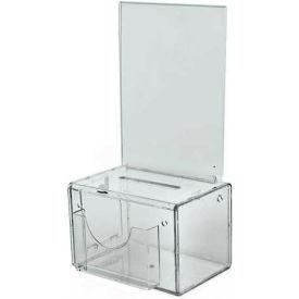 "Azar Displays 206388 Small Suggestion Box W/ Pocket, Lock & Keys, Clear, 5.5"" x 3.5"" ,1 Piece"