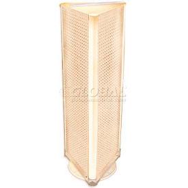 "Azar Displays 700450-ALM Three-Sided Spinning Pegboard Floor Display, 16"" x 60"", Almond Solid"