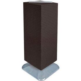 "Azar Displays 701435-BLK 4-Sided Interlocking Pegboard Floor Display, 14"" x 40"", Black Solid"