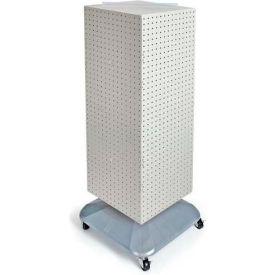 "Azar Displays 701436-WHT 4-Sided Interlocking Pegboard Floor Display, 14"" x 40"", White Solid"
