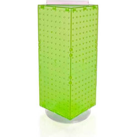 "Azar Displays 703385-GRE Interlocking Pegboard Countertop Display, 8"" x 20"", Green ,1 Piece"