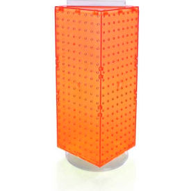 "Azar Displays 703385-ORG Interlocking Pegboard Countertop Display, 8"" x 20"", Orange ,1 Piece"