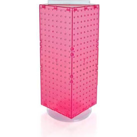 "Azar Displays 703385-PNK Interlocking Pegboard Countertop Display, 8"" x 20"", Pink ,1 Piece"