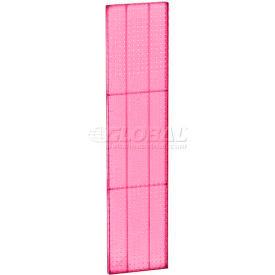 "Azar Displays 771360-PNK Pegboard Wall Panel, 13.5"" x 60"", Pink Opaque - Pkg Qty 2"