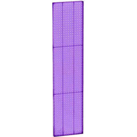 "Azar Displays 771360-PUR Pegboard Wall Panel, 13.5"" x 60"", Purple Opaque"
