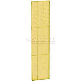 "Azar Displays 771360-YEL Pegboard Wall Panel, 13.5"" x 60"", Yellow Opaque - Pkg Qty 2"