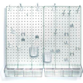 Azar Displays 900945-CLR Pegboard Room Organizer Kit, Hardware Included, Clear Opaque ,1 Piece