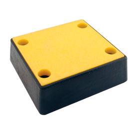 "Vestil Plastic Face Molded Bumper B-1213-4PF - 12""W x 13""L x 4""H"