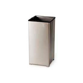 Rubbermaid® 16 Gallon Stainless Steel Open Top Receptacle, FGB1424SSPL