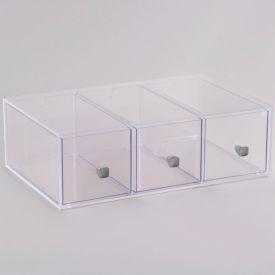 "Cal-Mil 1479 Eco Modern 3 Drawer Bread Box 19""W x 13""D x 6""H"
