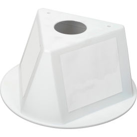 Inventory Cone White 3-Sided with Dry Erase Decal