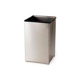 Rubbermaid® 40 Gallon Stainless Steel Open Top Receptacle, FGB1940SSRB