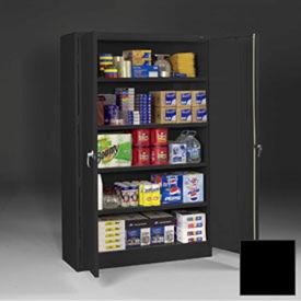 Tennsco Jumbo Storage Cabinets J1878A-N - Unassembled, 48x18x78 Black