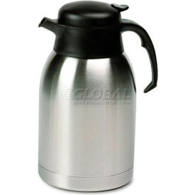 Stainless Steel Lined Vacuum Carafe, 1.9 Liter, Satin Finish/Black Trim