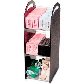 Compact Condiment Organizer, 6-1/8w x 8d x 18h, Black