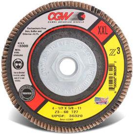 "CGW Abrasives 36322 Abrasive Flap Disc 4-1/2"" x 7/8"" 40 Grit Zirconia - Pkg Qty 10"
