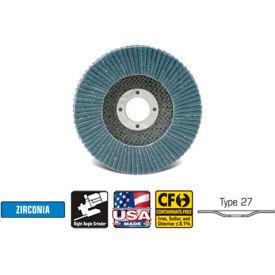 "CGW Abrasives 42542 Abrasive Flap Disc 5"" x 7/8"" 40 Grit Zirconia - Pkg Qty 10"