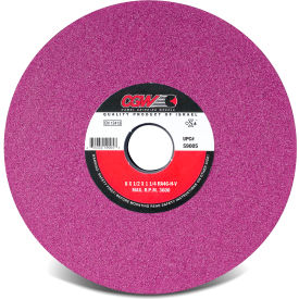 "CGW Abrasives 59002 Ruby Surface Grinding Wheels, R/1-3 X 1/4 7"" 60 Grit Aluminum Oxide - Pkg Qty 10"