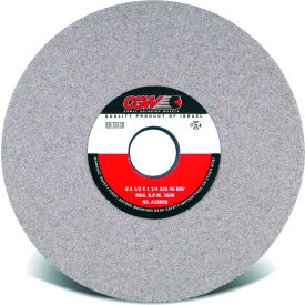 "CGW Abrasives 37728 Centerless Grinding Wheel 7"" x 1/2"" x 1-1/4"" Type 1 80 Grit Aluminum Oxide - Pkg Qty 10"