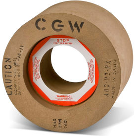 "CGW Abrasives 35249 Calendared Rubber Feed Regulating Wheels 80 Grit 12"" Aluminum Oxide"