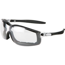 MCR Safety SS010 Stratos® Safety Glasses, Black Frame, Clear Uncoated Lens