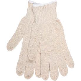 MCR Safety 9363LM  7 Gauge String Knit Gloves, Natural Cotton/Polyester, Hemmed, 1 Dozen