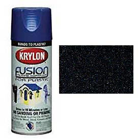Krylon Fusion For Plastic Paint Textured Shimmer Black - K02520000 - Pkg Qty 6
