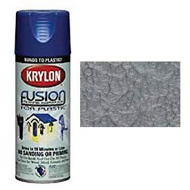 Krylon Fusion For Plastic Paint Hammered Finish Silver - K02532000 - Pkg Qty 6