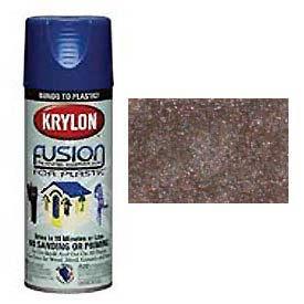 Krylon Fusion For Plastic Paint Hammered Finish Choco Brown - K02534000 - Pkg Qty 6
