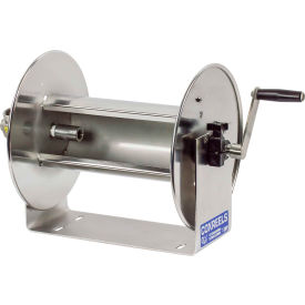 """Coxreels 117-5-100-SS 3/4""""x100' 4000 PSI Stainless Steel Hand Crank Hose Reel by"""