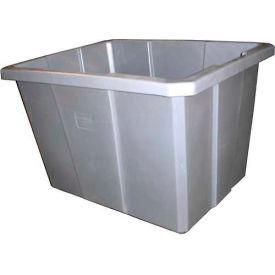 Bayhead Poly Bin Bulk Container PB-12 Smooth Inside Wall, 12 Bushel, Gray