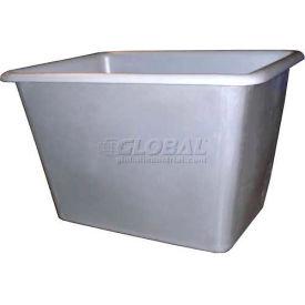 Bayhead Poly Bin Bulk Container PB-8 Smooth Inside Wall, 8 Bushel, White