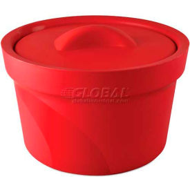 Bel-Art Magic Touch 2 Ice Bucket with Lid 168072003, 2.5 Liter, Red, 1/PK by
