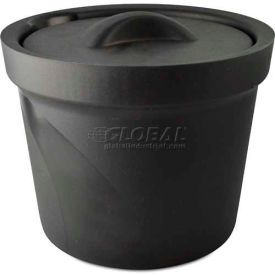 Bel-Art Magic Touch 2 Ice Bucket with Lid 168074002, 4.0 Liter, Black, 1/PK by