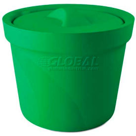 Bel-Art Magic Touch 2 Ice Bucket with Lid 168074004, 4.0 Liter, Green, 1/PK by