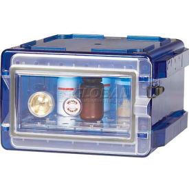 Bel-Art Secador 1.0 Vertical Desiccator Cabinet 420710007, 0.7 Cu. Ft., Blue with Clear Door by