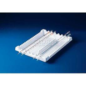 "Bel-Art Pipette Tray Rack 189400000, Styrene, 11-1/4""L x 8-1/2""W x 1-1/8""H, White, 1/PK Package... by"