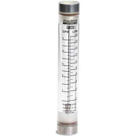 Blue-White Series F-400 Flowmeter Vertical Standard Flow -.5 to 5 GPM by