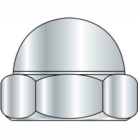 Acorn Nut - 1/4-20 - Steel - Nickel Plated - 2 Piece - Pkg of 250 - Brighton-Best 301021