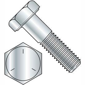 "Hex Cap Screw - 3/8-16 x 1"" - Carbon Steel - Zinc CR+3 - Gr 5 - FT - UNC - USA - 100 Pk - BBI 457138"