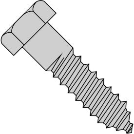 "Hex Lag Screw - 3/8-7 x 2"" - Low Carbon Steel - Zinc CR+3 - Pkg of 50 - Brighton-Best 486326"